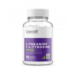 OstroVit Theanine + Tyrosine VEGE 90 Capsule Beneficii L-Teanina + L-Tirozina:Maximizeaza efectele cofeinei eliminand in acelas