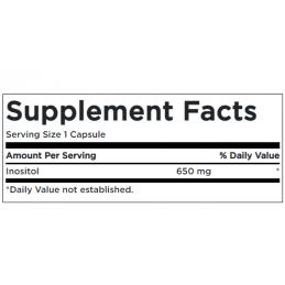 Swanson Inozitol 650 mg 100 capsule Beneficii INOSITOL: Inozitolul este un nutrient natural gasit in noua forme (stereoizomeri),