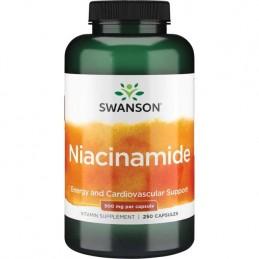 Swanson Niacinamide - Vitamina B3 500 mg 250 capsule Beneficii Niacinamide: Spre deosebire de niacina obisnuita, Swanson Niacina