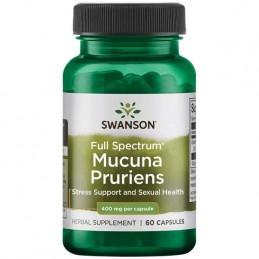 Swanson Full Spectrum Mucuna Pruriens (L-Dopa) 400 mg 60 capsule Beneficii Full Spectrum Mucuna Pruriens: Mucuna pruriens (sau f