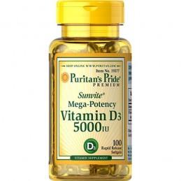 Puritan's Pride Vitamina D3 125 mcg (5000 IU) 100 gelule
