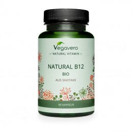 Vegavero Natural Vitamin B12 60 Capsule (Reduce oboseala, intareste imunitatea si sistemul nervos)