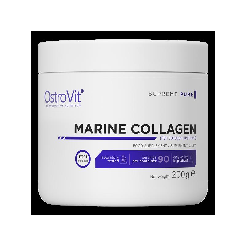 Marine Collagen, peptide colagen marin din peste, pudra, 200 grame