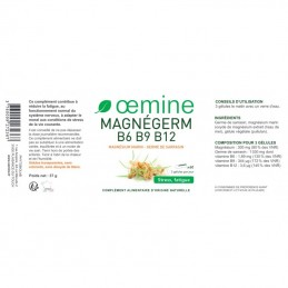 Oemine Magnegerm Magneziu, germeni, B6 B9 B12 - 60 Capsule  Beneficii MAGNEGERM B6 B9 B12 - joaca un rol in dezvoltarea sanatoas