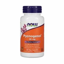 NOW Foods Pycnogenol, 30mg 30 Capsule Pycnogenol®:un puternic antioxidant, sprijină echilibrul colesterolului sănătos, ajută la