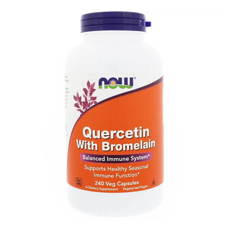 Now Foods Quercetina cu Bromelaina, 240 capsule Beneficii Quercetina cu Bromelaina: ajuta in stimularea sistemului imunitar, poa