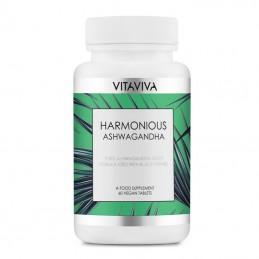 Vitaviva Harmonious Ashwagandha, 60 Capsule Beneficii Ashwagandha: imbunatateste functia insuficienta a tiroidei, amelioreaza ob