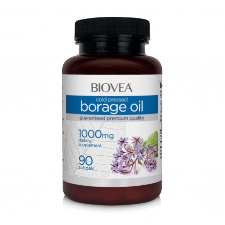 Biovea Ulei de Borago (Ulei Limba mielului) 1000 Mg, 90 Capsule