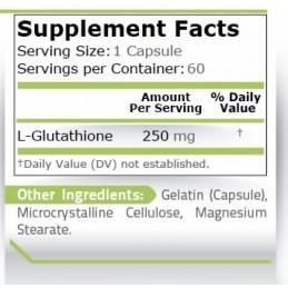 L-Glutation, L-Glutathione, 250 mg, 60 capsule