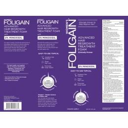 FOLIGAIN MINOXIDIL 2% Spuma regenerare par pentru Femei (177ml) 3 luni tratament