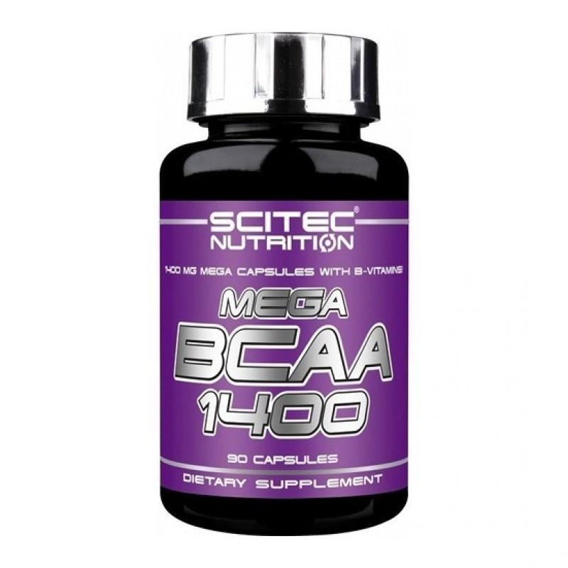 Mega BCAA 1400 90 Capsule, Scitec Nutrition, pret, doze, efecte, indicatii, administrare, pareri