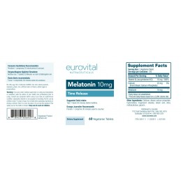 MELATONINA 10mg (Dizolvare lenta) 60 Tablete